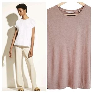 Vince. Relaxed Dolman Sleeve Tee Brown Small